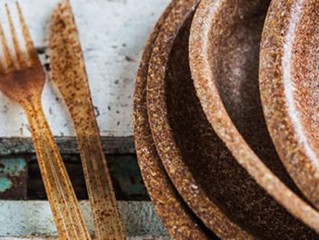 Innovan platos, vasos y cubiertos comestibles