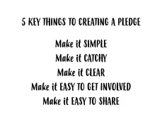 Shape your pledge and go viral