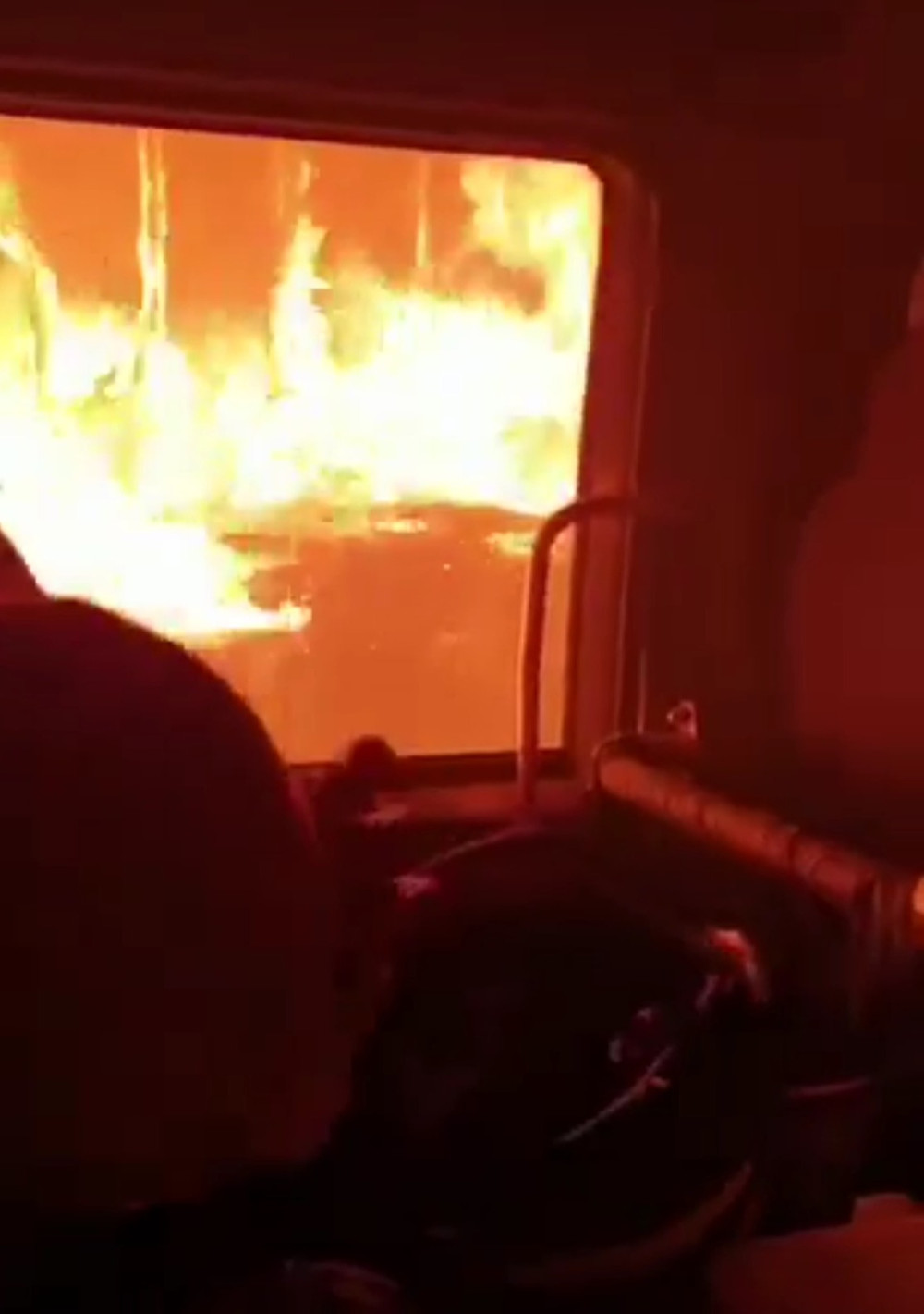 Footage from inside trucks that were not fit-for-purpose and consequently immobilised during NYE 2019/2020 fire season.