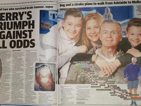 Terry in the Herald Sun