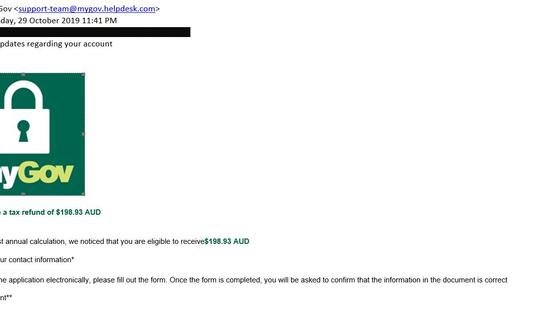 Scam myGov Emails. Beware!