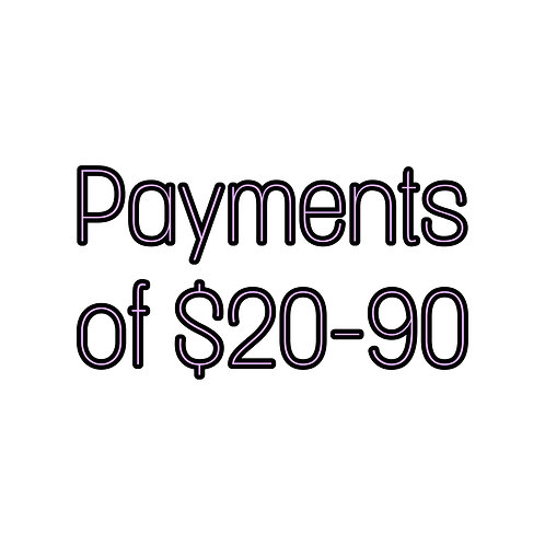 Payments of $20-90