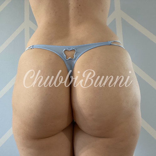 Blue Strappy Thong