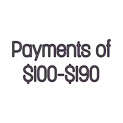 Payments of $100-$190