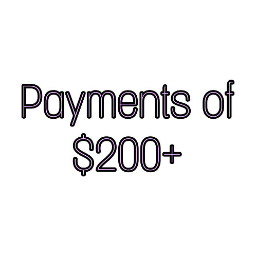 Payments of $200+