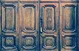 Original freemasonry door in Italy -  au