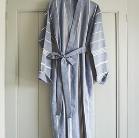 Ottomania hammam bathrobe navy blue 1878