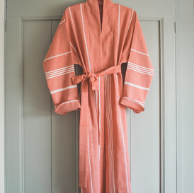 Ottomania hammam bathrobe brick red 1871