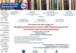 Carton d'invitation CNRS