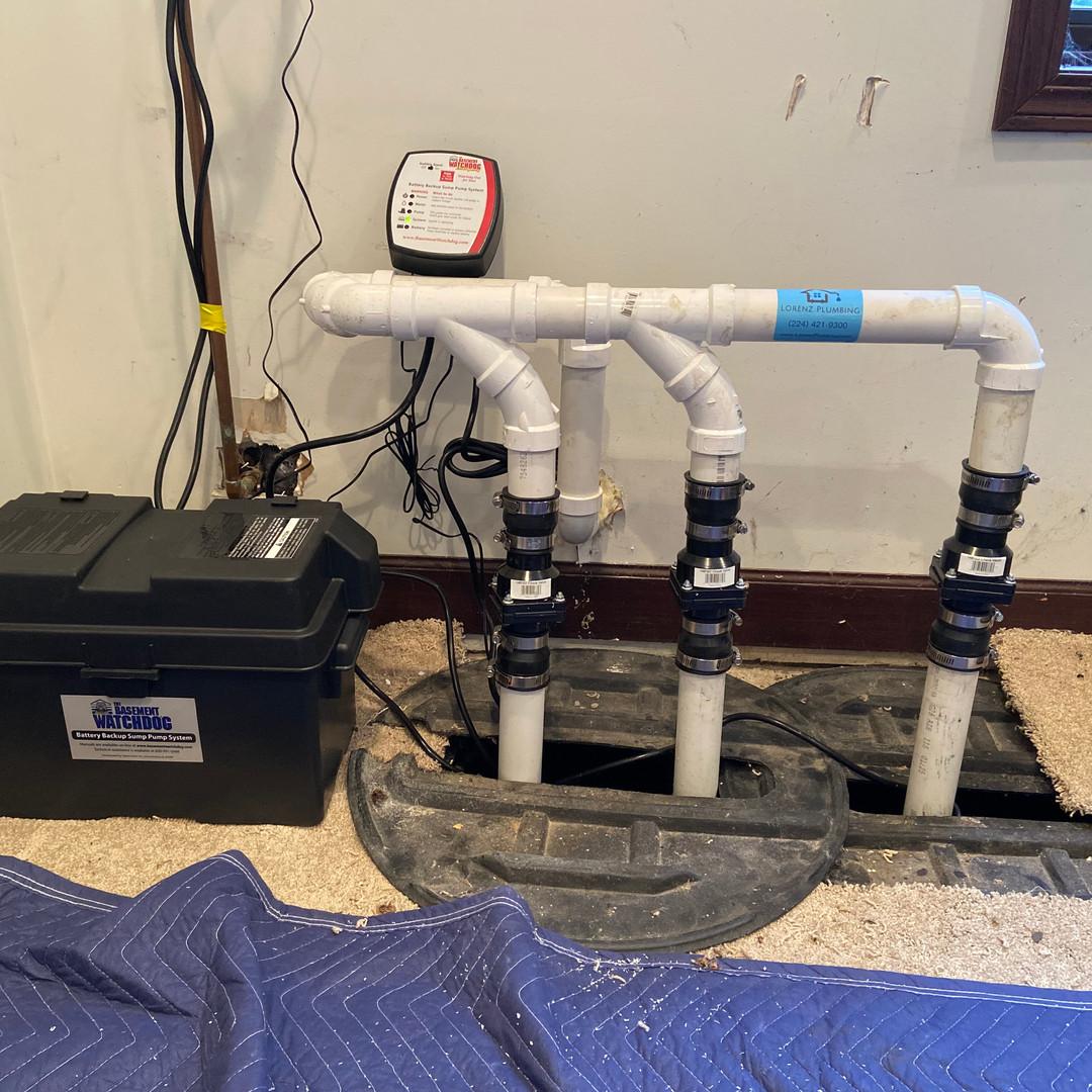 New sump pump system