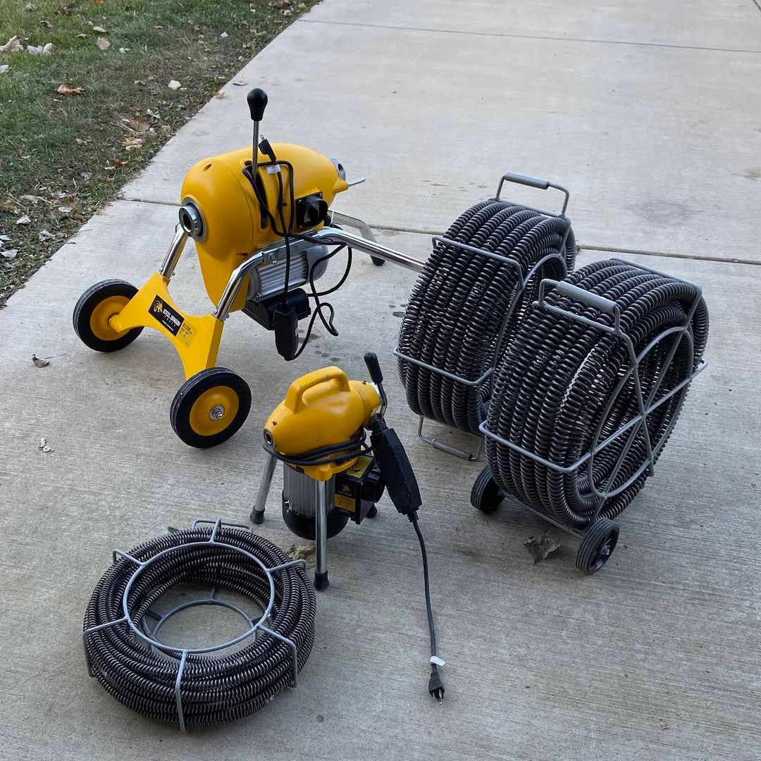 Rodding equipment to clear any drain!