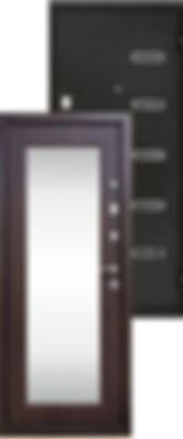Стальная дверь с зеркалом Ергак 888