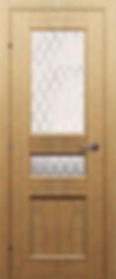 Межкомнатная дверь 30.44 орех бис остекленная матовая