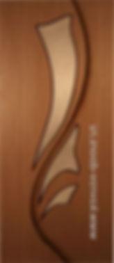Межкомнатная дверь 5 ДО остекленная.Лилия