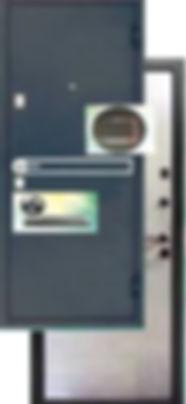 Стальная дверь Ергак 501 с броненакладкой