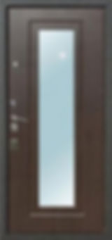 Стальная дверь с зеркалом Зетта комфорт 2/Б1/
