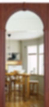 Межкомнатная дверь Валенсия ПВХ остекленная.Собрание