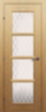 Межкомнатная дверь 30.40 остекленная матовая