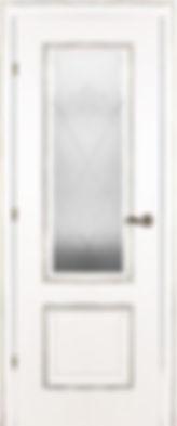 Межкомнатная дверь 20.24 остекленная белая