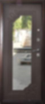 Стальная дверь с зеркалом Селенга