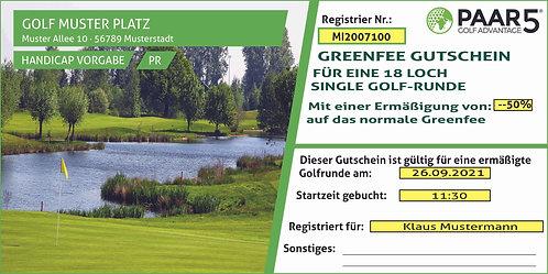 Online Gutschein Single Golfer