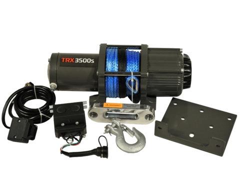 Лебедка для квадроцикла 4REVO S3500-A 12V с синтетическим тросом