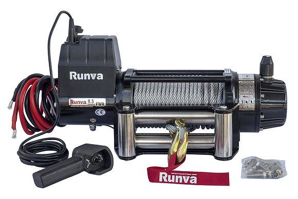 Лебёдка электрическая 12V Runva 9500 lbs 4350 кг (влагозащищенная) EWB9500S