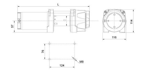 Электрическая лебедка RockWinch RES4000 steel