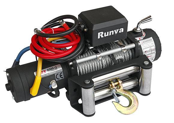 Лебёдка электрическая 12V Runva 9500 lbs 4350 кг Спорт 9500-Q EVO