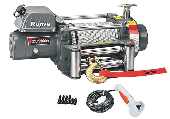 Лебёдка электрическая (индустр.) 12V Runva 12000 lbs 5700 кг EWN12000U