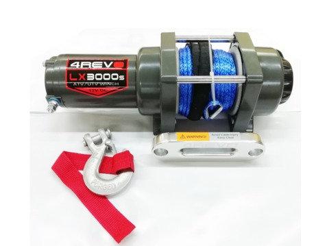 Лебедка для квадроцикла 4REVO LX3000-B 12V с синтетическим тросом