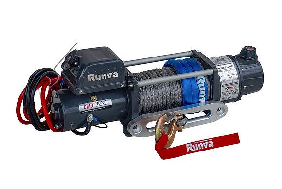 Лебёдка электрическая двухскоростная 12V Runva 10000 lbs 4500 кг EWD10000SSR