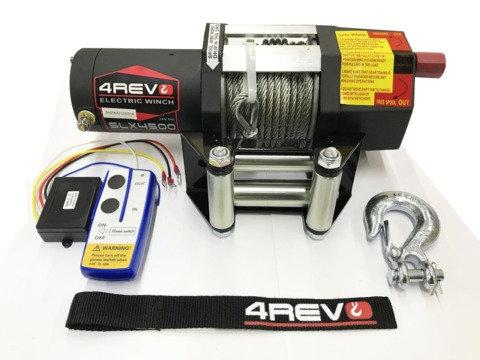 Лебедка для квадроцикла / снегохода 4REVO SLX-4500 со стальным тросом