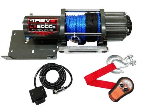 Лебедка для квадроцикла / кроссовера 4REVO LX-5000S с синтетическим тросом