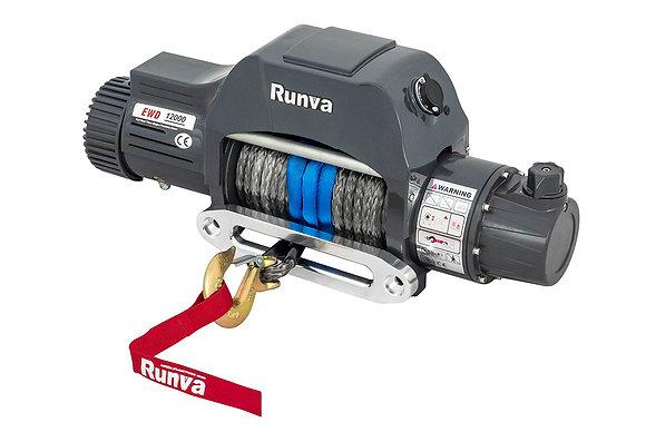 Лебёдка электрическая двухскоростная 12V Runva 12000 lbs 5700 кг EWD12000SR