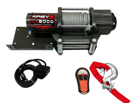 Лебедка для квадроцикла / кроссовера 4REVO LX-5000 со стальным тросом