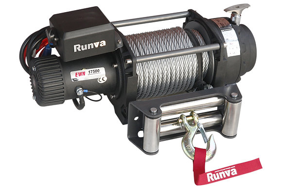 Лебёдка электрическая (индустр.) 12V Runva 17500 lbs 7930 кг EWN17500U