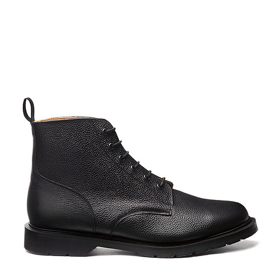 Solovair Black Grain 6eye Derby boots