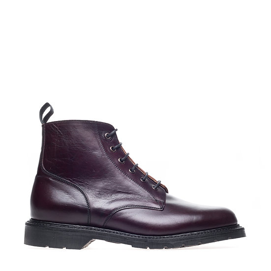 Solovair Burgundy Horween 6 Eye Derby Boot