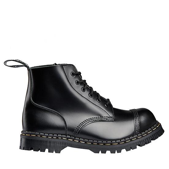 Gripfast Black leather 6 eye boot steel cap
