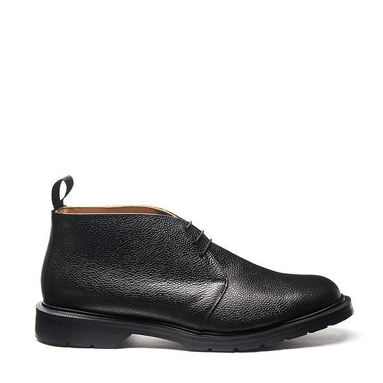 Solovair Black Grain Chukka boots