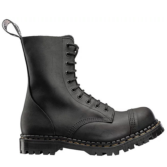 Gripfast Black Greasy leather 10eye boot