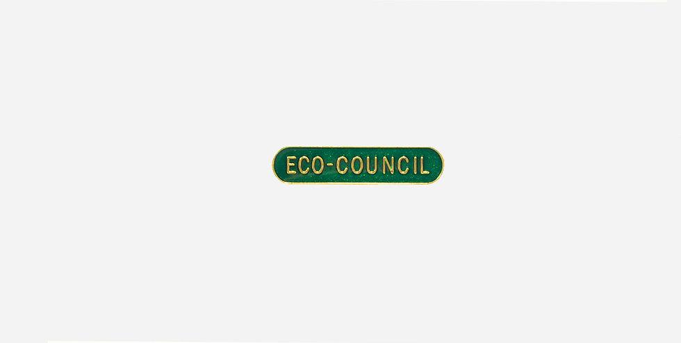 Эмалевый зелёный значок ECO-COUNCIL