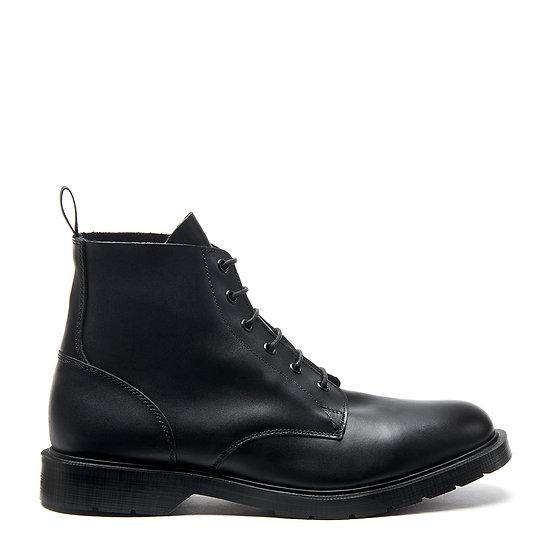 Solovair Black 6 Eye Derby Boot