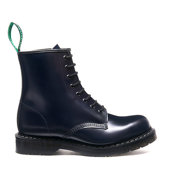 Solovair 8eye Derby boot Navy