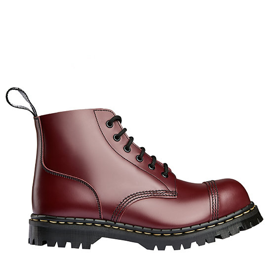 Oxblood leather 6eye boots steel cap