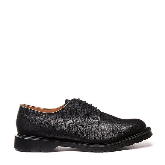 Solovair Black Grain 4eye Gibson shoe