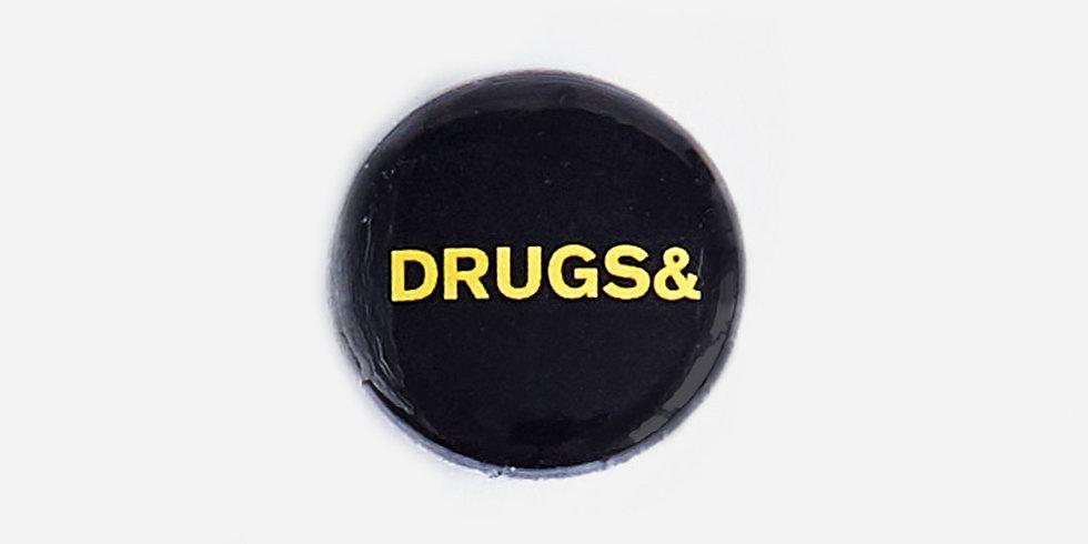 Эмалевые значки DRUGS& SEX& ROCK& ROLL& | комплект