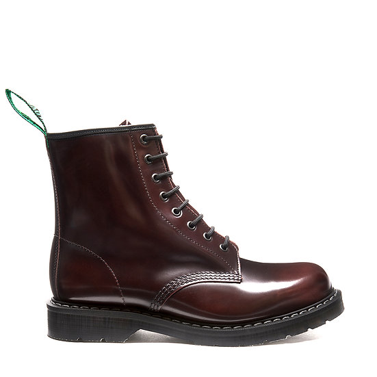 Solovair 8eye Derby boot Burgundy Rub off