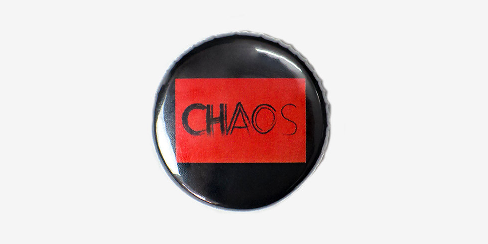 Эмалевый значок CHAOS